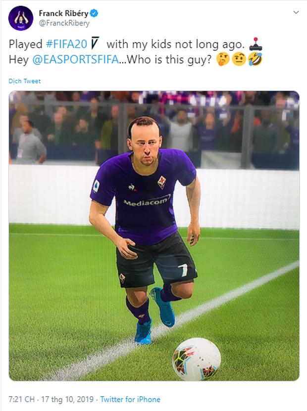 Ngôi sao Franck Ribery chê bai FIFA 20 cẩu thả trong tạo hình cầu thủ, PES ngay lập tức nhảy vào cà khịa - Ảnh 1.