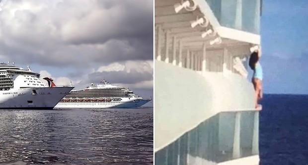 Mạo hiểm tính mạng trèo lên lan can để chụp ảnh sống ảo, nữ du khách cay đắng nhận án phạt cả đời không được đi du thuyền - Ảnh 1.