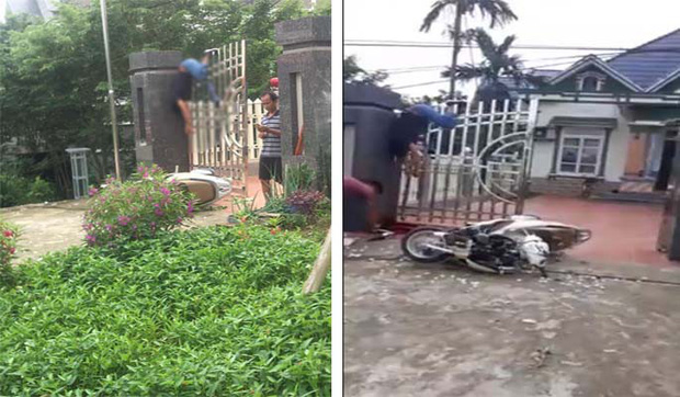 Phóng xe tông trụ cổng, người đàn ông thiệt mạng treo lơ lửng trên cổng cao hơn 2m - Ảnh 1.