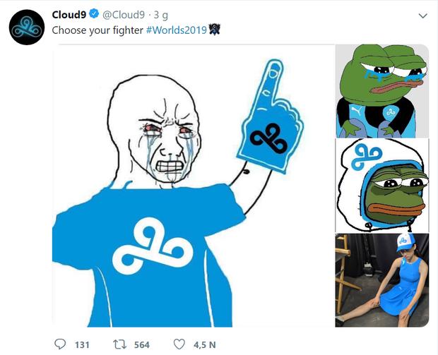 Quyết tâm không trở thành trò cười của các đại diện châu Âu, Cloud9 tự troll chính mình ngay sau khi bị loại khỏi CKTG 2019 - Ảnh 1.