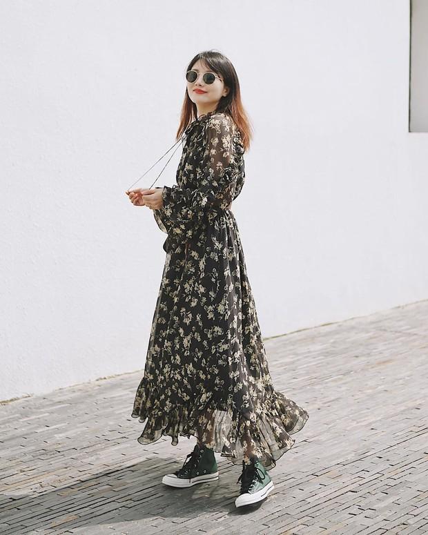 Bỗng thấy không kiểu váy nào vượt qua được váy dài về độ sang chảnh, yêu kiều và hợp rơ với tiết trời se lạnh - Ảnh 5.