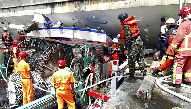 Khoảnh khắc kinh hoàng khi cây cầu dài 140m ở Đài Loan sụp đổ trong tíc tắc, khiến hàng chục người bị thương và mất tích - Ảnh 5.