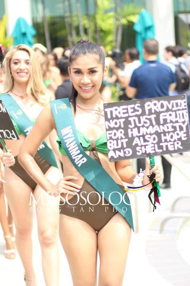 Đại diện Việt Nam diện bikini khoe body nổi bật, kéo đến dàn thí sinh Hoa hậu Trái đất 2019 đúng là hết hồn - Ảnh 12.