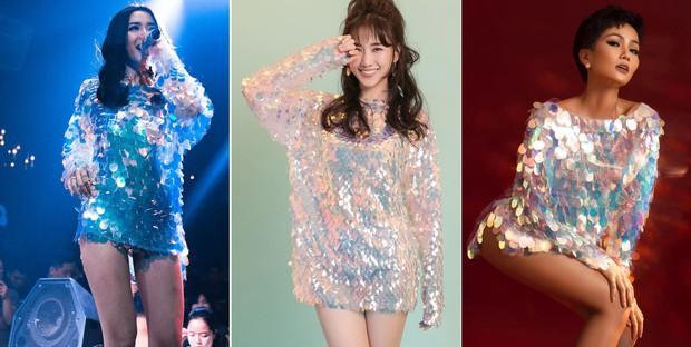 Diện cùng 1 kiểu váy ngắn cũn: Hari Won, Bích Phương và H'Hen Niê khoe đôi chân cực phẩm khó phân định thắng thua - Ảnh 7.