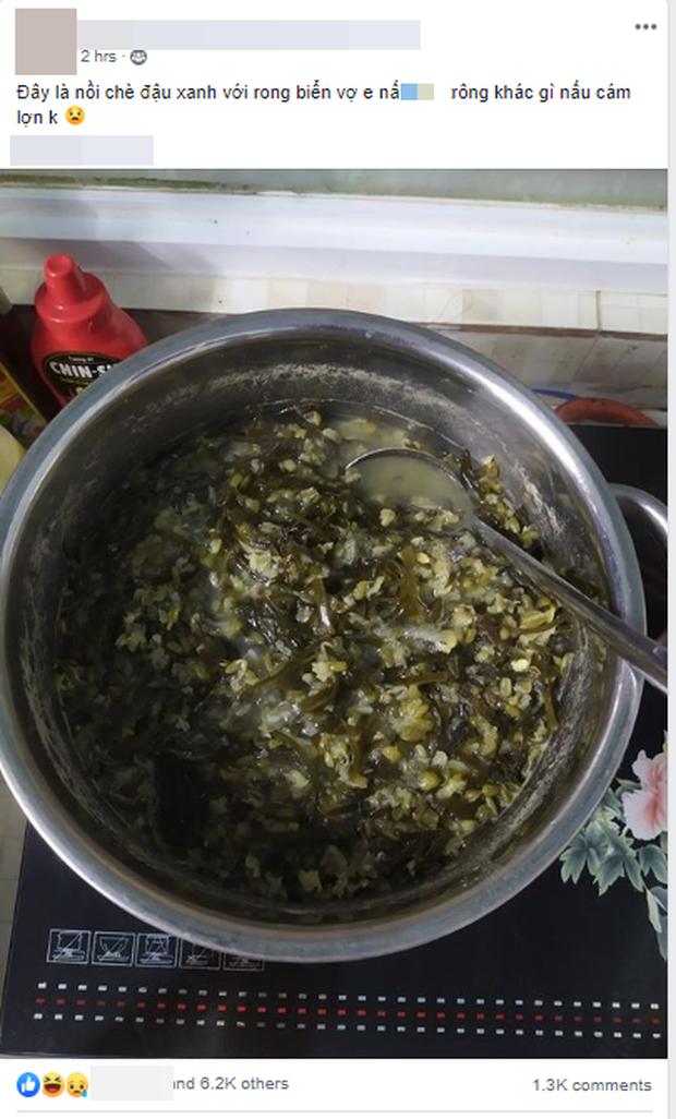 Nấu chè đậu xanh rong biển đặc sệt, vợ trẻ bị chồng bóc phốt không khác gì nấu cám lợn gây tranh cãi - Ảnh 1.