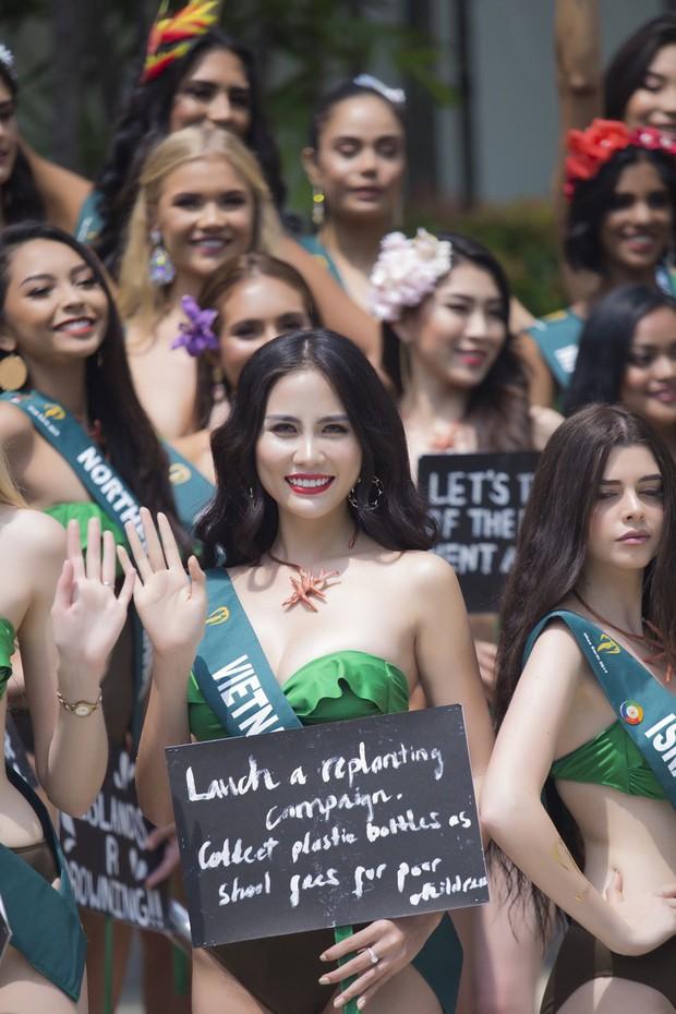Đại diện Việt Nam diện bikini khoe body nổi bật, kéo đến dàn thí sinh Hoa hậu Trái đất 2019 đúng là hết hồn - Ảnh 3.