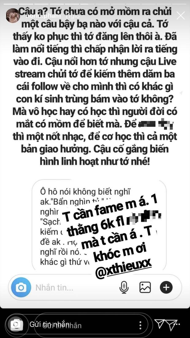 Chưa vào nhà chung, Thánh chửi Phạm Thoại đấu khẩu gay gắt với thí sinh Next Top trên mạng xã hội - Ảnh 5.