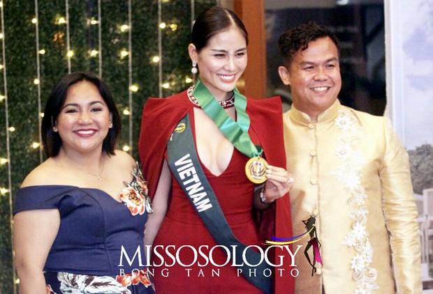 Biến hoá độc đáo, Hoàng Hạnh mang về huy chương vàng phần thi bikini tại Hoa hậu Trái đất - Ảnh 1.