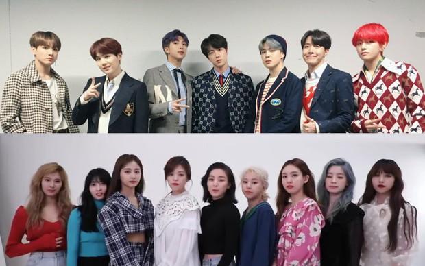 5 nghệ sĩ Hàn nổi nhất tại Nhật năm 2019: BTS và TWICE góp mặt cũng không bất ngờ bằng nhóm nhạc đã nhập ngũ gần hết - Ảnh 1.