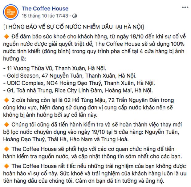Vẫn mở cửa phục vụ khách cho dù ở khu vực bị ô nhiễm nguồn nước nhưng tại sao The Coffee House lại được cư dân mạng ủng hộ? - Ảnh 3.