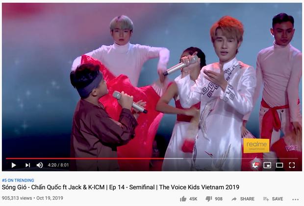 Jack và K-ICM song ca cùng thí sinh The Voice Kid phiên bản mới Sóng Gió đầy cảm động, ngay lập tức lọt Top 4 Trending! - Ảnh 2.