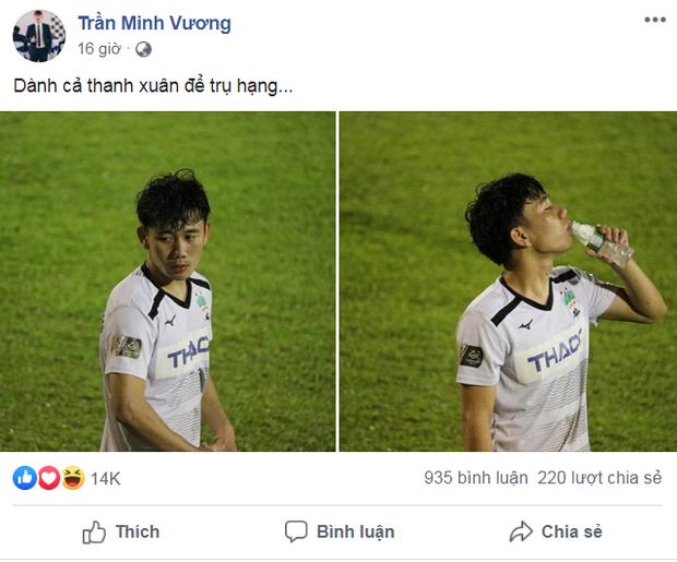 Xót xa dòng tâm trạng của Minh Vương sau trận đấu với TP. HCM: Dành cả thanh xuân để trụ hạng - Ảnh 1.