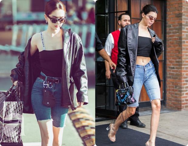 Khoe quần jeans trước sau như một, tưởng không ai dám mặc hóa ra Ngọc Trinh lại đụng hàng với Kendall Jenner - Ảnh 9.