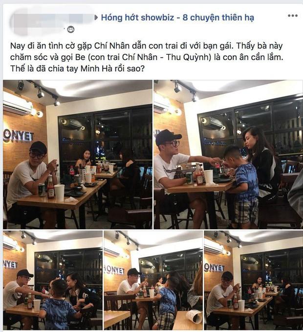 HOT: Lộ loạt ảnh thân thiết của Chí Nhân với bạn gái lạ mặt, dẫn cả con trai theo cùng, rộ nghi vấn đã chia tay Minh Hà sau 4 năm hẹn hò? - Ảnh 1.