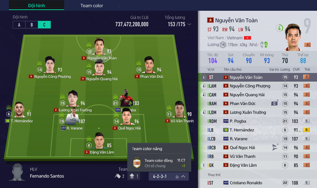 Tính năng mới của FIFA Online 4 khiến chỉ số cầu thủ cao như hack, đội hình dỏm chẳng khác gì đại gia - Ảnh 5.