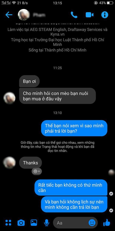Ôi 2 ngày trước thanh niên cà khịa gái hỏi mua mèo đã viết gì lên Facebook để giờ gậy ông đập lưng ông vậy nè? - Ảnh 1.