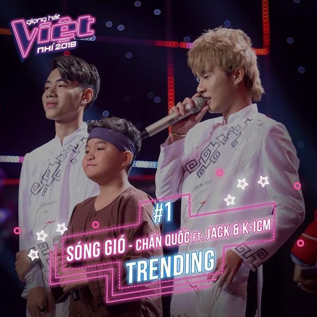 MV mới mất hút khỏi top trending, Jack & K-ICM lại đầu bảng khi xuất hiện tại Giọng hát Việt nhí! - Ảnh 3.