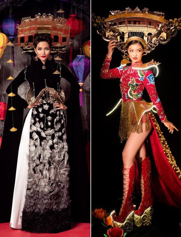 Cùng công kênh cả Chùa Cầu (Hội An) trên vai, trang phục dân tộc của Kiều Loan và HHen Niê - ai đẹp hơn? - Ảnh 5.