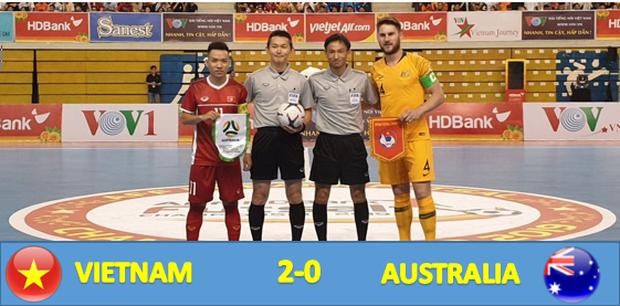 Đội tuyển futsal Việt Nam xuất sắc đánh bại Australia ở trận ra quân AFF Futsal Championship 2019 - Ảnh 1.