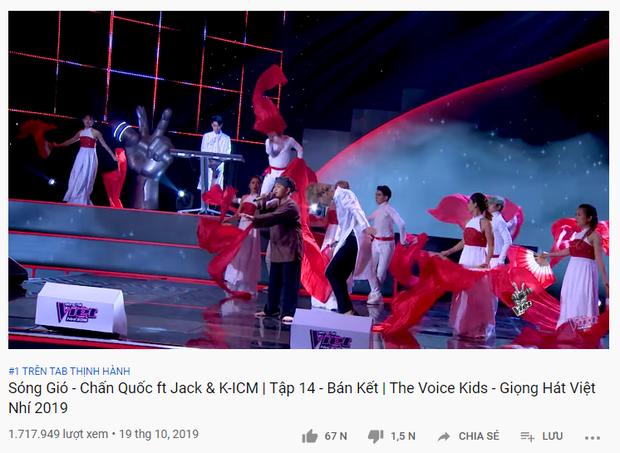 MV mới mất hút khỏi top trending, Jack & K-ICM lại đầu bảng khi xuất hiện tại Giọng hát Việt nhí! - Ảnh 4.