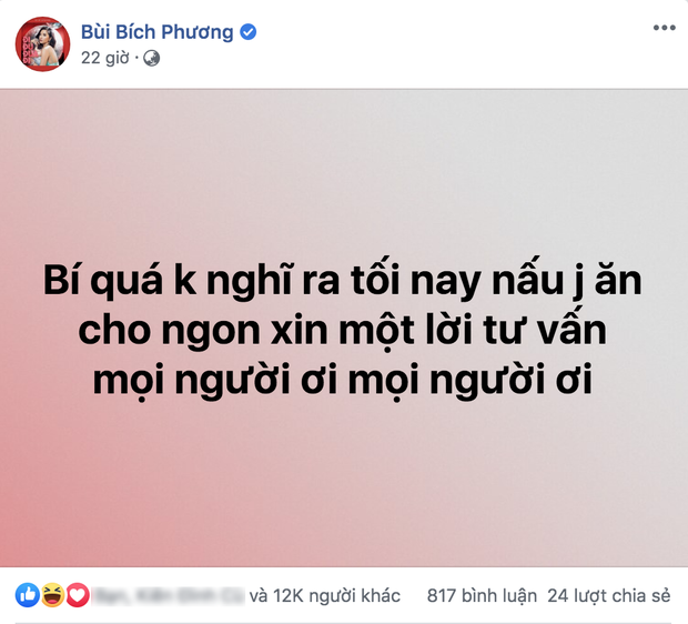 Bích Phương lên mạng hỏi ăn gì: Quang Trung bảo nấu nước sôi cũng ngon, Gil Lê hô vang khẩu hiệu đậu hũ tắm mắm hành và đây là kết quả - Ảnh 1.