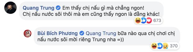 Bích Phương lên mạng hỏi ăn gì: Quang Trung bảo nấu nước sôi cũng ngon, Gil Lê hô vang khẩu hiệu đậu hũ tắm mắm hành và đây là kết quả - Ảnh 2.