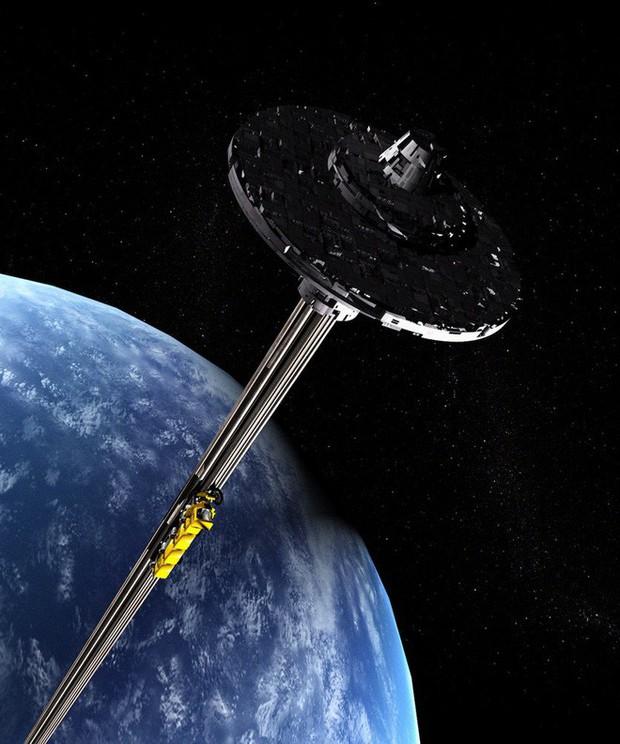 Báo cáo nghiên cứu mới: Với công nghệ du hành Vũ trụ và vật liệu hiện tại, ta đã có thể làm thang máy không gian - Ảnh 1.