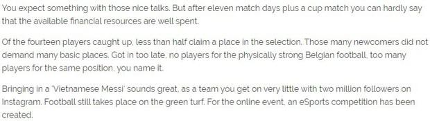 Báo Bỉ chỉ đích danh Messi Việt Nam Công Phượng là bản hợp đồng thất bại, chê bai công tác chuyển nhượng của STVV - Ảnh 1.