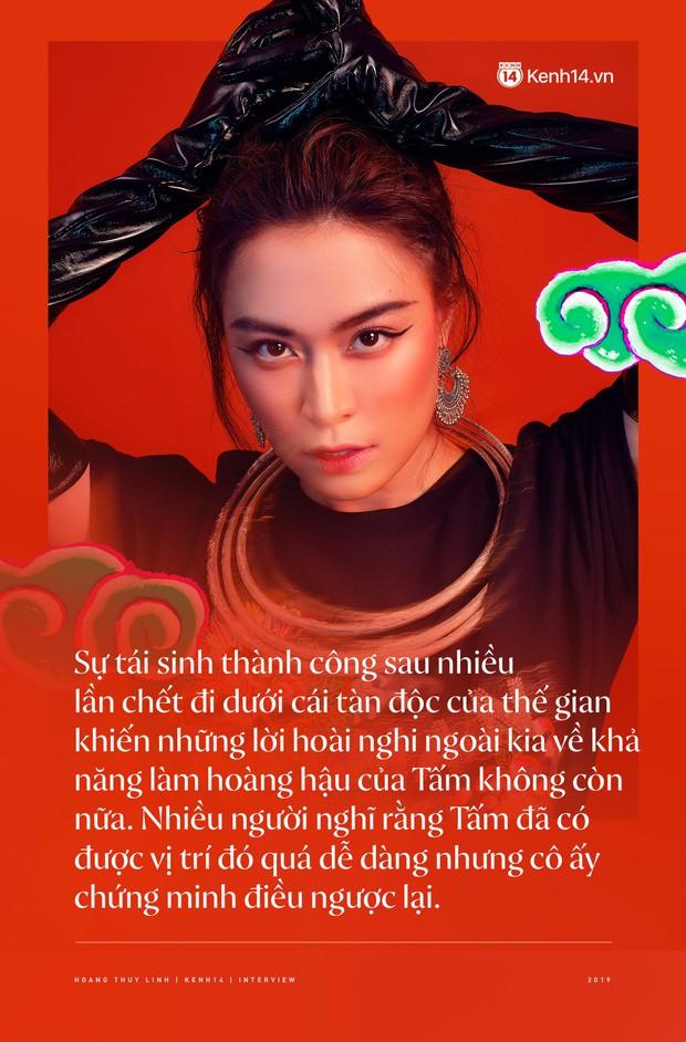 Hoàng Thuỳ Linh: Ngay cả lúc chết, Tấm vẫn là Hoàng Hậu, phải trải qua bao lần chết đi sống lại để quay về vị trí ban đầu - Ảnh 7.