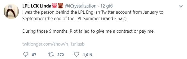 Nóng: LPL và Riot Games không trả lương cho nhân viên suốt 9 tháng làm việc - Ảnh 1.