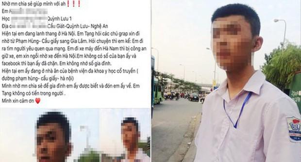 """Thực hư thông tin nam sinh Nghệ An đi xe máy 200km ra Hà Nội để... tìm """"bạn gái - Ảnh 1."""