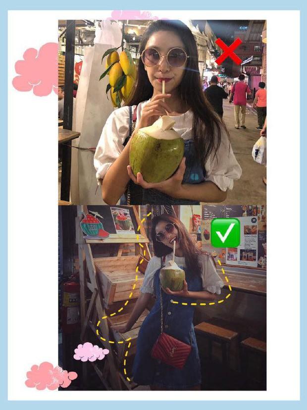"""Hoá ra gái xinh bên Hàn chụp ảnh đẹp là nhờ có loạt bí kíp tạo dáng """"hack nhẹ"""" như này, chân dài mặt thon kiểu gì cũng chơi - Ảnh 7."""