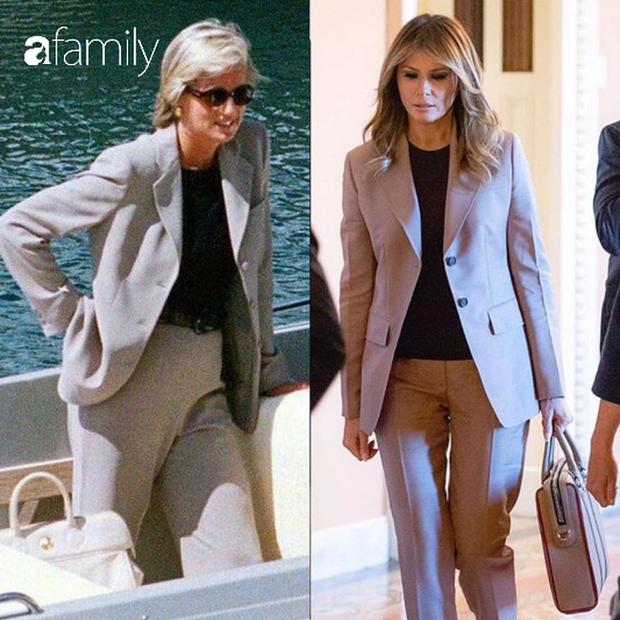 Bà Melania Trump ăn vận thanh lịch nhưng lại giống hệt Công nương Diana, dân tình người khen người chê tơi tả - Ảnh 4.