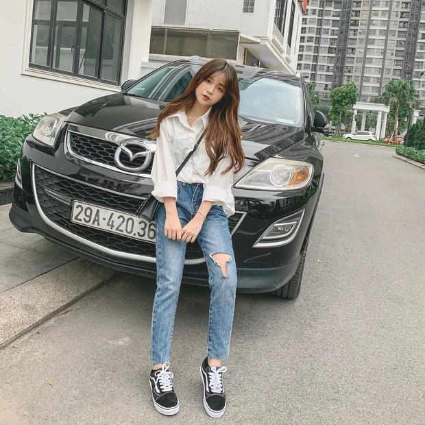 Bạn gái tin đồn của Quang Hải chứng minh: Cao 1m52 vẫn mặc đẹp như thường nhờ tài hack dáng, mặt xinh bù đắp tất cả! - Ảnh 2.