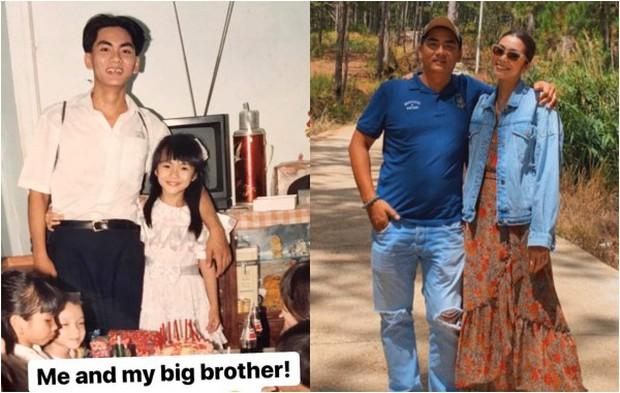 Sau 26 năm, Hà Tăng từ cô nhóc 7 tuổi đến mẹ bỉm sữa hai con vẫn luôn bé bỏng trong vòng tay anh trai - Ảnh 1.