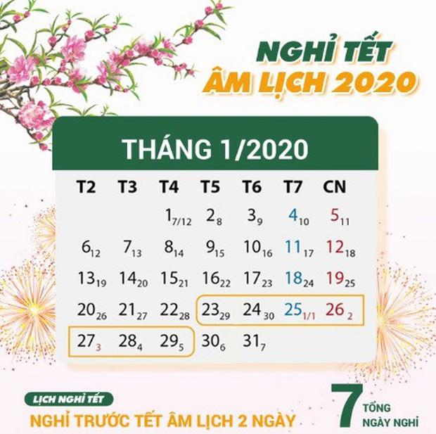 Chính thức ban hành lịch nghỉ Tết Nguyên đán Canh Tý 2020 - Ảnh 1.