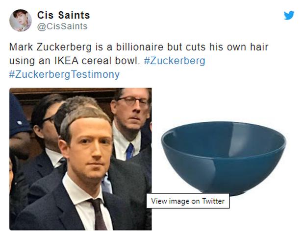 Chỉ vì kiểu tóc bát úp quý tộc, Mark Zuckerberg bị cà khịa ngay tại hội nghị và chế ảnh không hồi kết trên Internet - Ảnh 3.