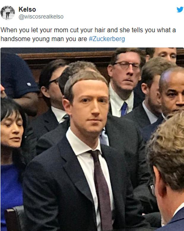 Chỉ vì kiểu tóc bát úp quý tộc, Mark Zuckerberg bị cà khịa ngay tại hội nghị và chế ảnh không hồi kết trên Internet - Ảnh 4.
