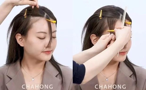 2 cách cắt tóc mái thưa siêu nhanh, đảm bảo không lỗi mà còn đẹp hơn cả ra tiệm - Ảnh 5.