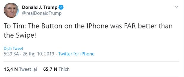 Tổng thống Mỹ không biết dùng iPhone đời mới, đòi Apple tiến hoá ngược cho đỡ lạ tay - Ảnh 1.