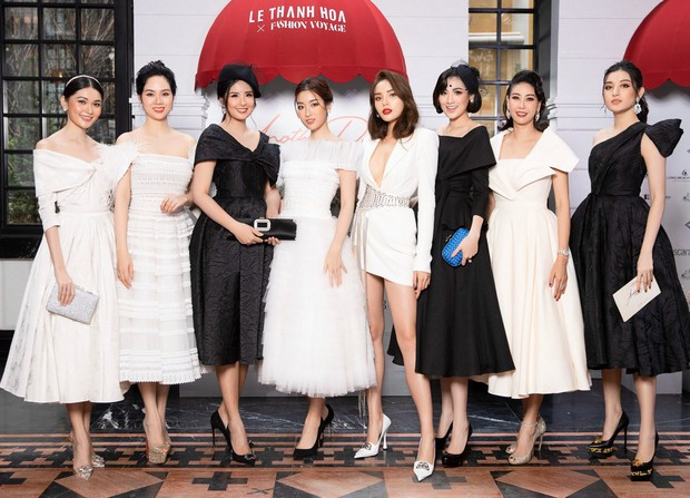 Dàn Hoa hậu, Á hậu hot nhất nhì Vbiz váy áo lộng lẫy, đụng độ bất phân thắng bại trong một khung hình - Ảnh 1.