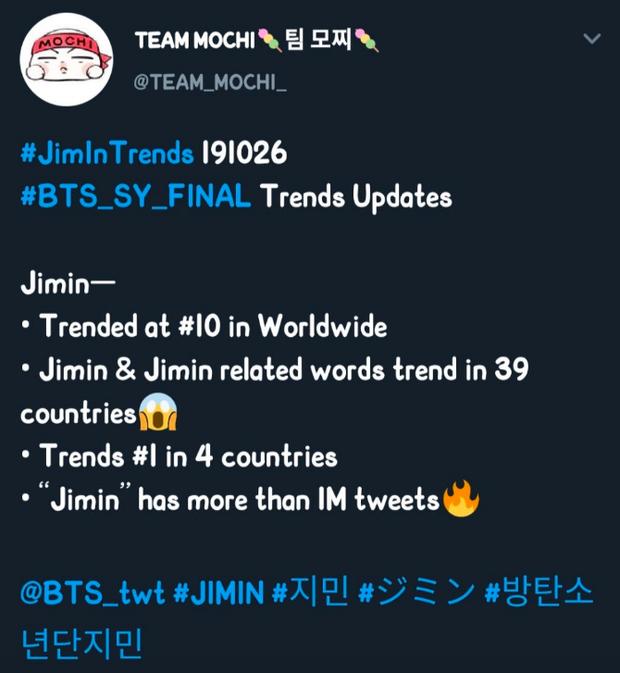 Chỉ với kiểu tóc mới trong concert cuối cùng của BTS tại Seoul, Jimin lại gây sốt toàn cầu khi lọt top trending sương sương 39 quốc gia - Ảnh 10.