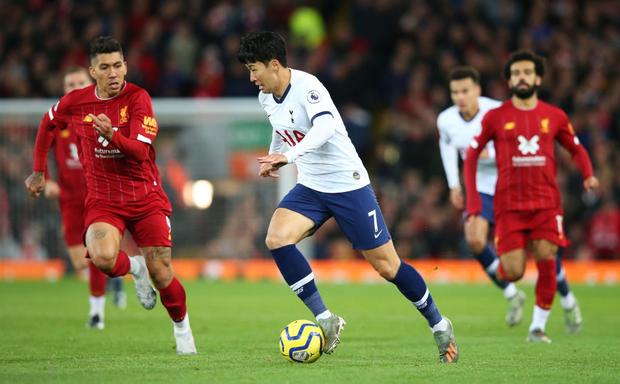 Son Heung-min cay đắng hóa thánh cột - xà, Tottenham thua ngược tiếc nuối đội đầu bảng Liverpool - Ảnh 4.