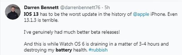Phiên bản iOS 13 mới bị dìm thậm tệ vì ngốn pin, tụt 70% chỉ trong 2 tiếng! - Ảnh 5.