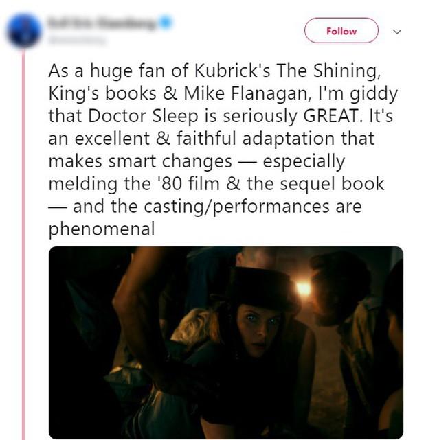 Tưởng IT 2 đã là trùm cuối, ai ngờ Doctor Sleep mới là phim kinh dị của Stephen King được khen nhiều nhất năm - Ảnh 4.