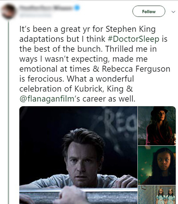 Tưởng IT 2 đã là trùm cuối, ai ngờ Doctor Sleep mới là phim kinh dị của Stephen King được khen nhiều nhất năm - Ảnh 3.