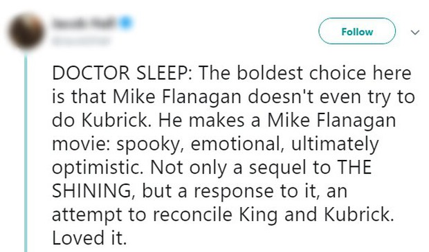 Tưởng IT 2 đã là trùm cuối, ai ngờ Doctor Sleep mới là phim kinh dị của Stephen King được khen nhiều nhất năm - Ảnh 5.