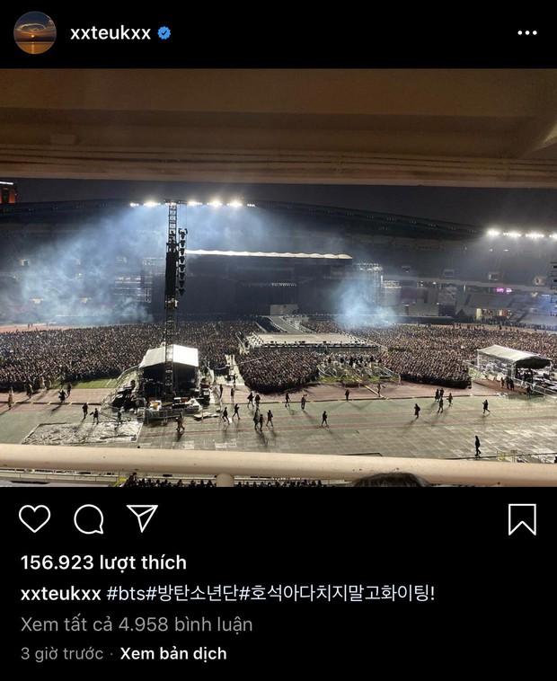 Leeteuk (Super Junior) ghé thăm concert của hậu bối hàng xóm BTS, không quên gửi lời nhắn ngọt ngào đến cậu em J-Hope - Ảnh 3.