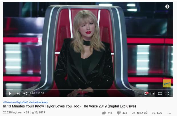 Vừa xuất hiện trên The Voice, một clip về Taylor Swift nhận dislike và bình luận chê bai nhiều khó tin - Ảnh 4.
