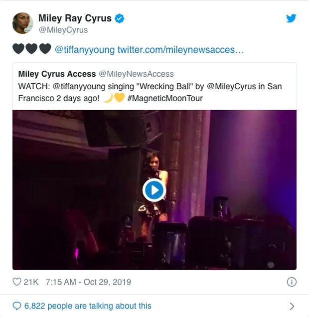 Tiffany cover Wrecking Ball theo phong cách mới, được chính chủ Miley Cyrus bày tỏ tình cảm khiến fan ngồi cầu ngay một màn collab - Ảnh 2.